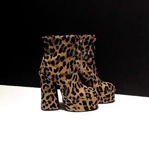 Shellys London Leopard Print Platform Boots